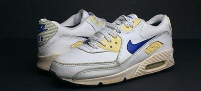 info for 810f4 a26ec NIKE AIR MAX 90 Men's White Leather Athletic Lifestyle Sneakers/Shoes Size 6