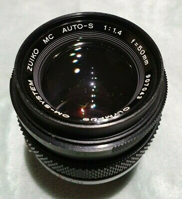 Olympus OM-System Zuiko MC Auto-S 1:1.4 50mm Fast Lens in Very Good Condition