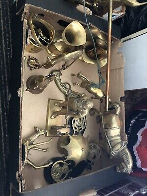 Job Lot of Vintage Brass (some might Be Bronze) Ornaments/Collectables