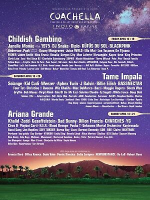 Coachella 2019 Weekend 1 :: 2 GA Passes + 1 Car Camping Pass TICKETS IN HAND!