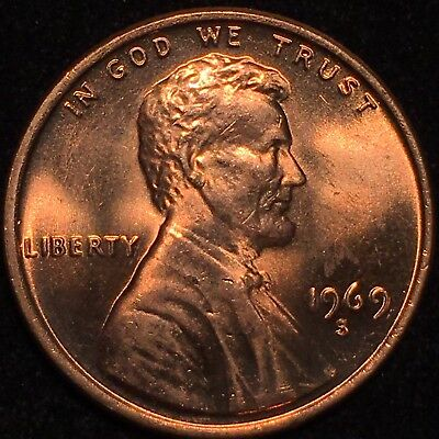 1969-S LINCOLN CENT Double Die Obverse * Very Rare * - $5 00