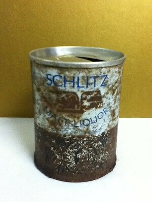 "Schlitz malt liquor metal pull top old beer can 8 oz. 3.5"" Milwaukee J7"