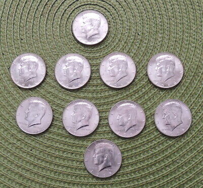 Lot 10 – 1964 P Mint Kennedy Silver Half Dollars 90% Silver, Circulated, EF/AU