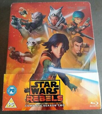 STAR WARS REBELS Complete Season 2 Blu-Ray Exclusive Limited Edition STEELBOOK