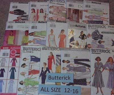 AA Butterick ~ All Patterns are Size 12-16 (12,14,16) 38+ Listed ~ U-PICK ~ 6944