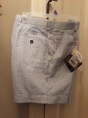 c3a746a71e NWT Men's TrueFlies Gasparilla Seersucker Shorts, Charleston Sz 34 Blue  Stripes