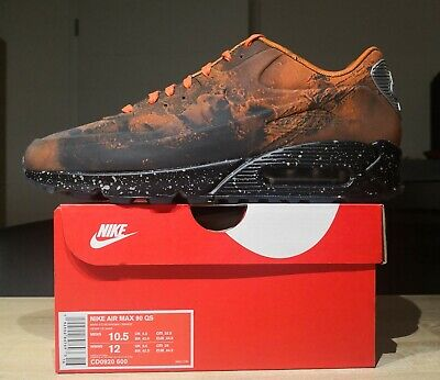 New Limited Collaboration Graffiti Nike AIR MAX 90 PREMIUM Running Shoes 700155 405 603PCSIZE75 43 44 44.5 45 For Sale