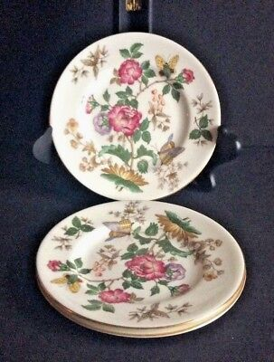 WEDGWOOD BONE CHINA ~ 3 Bread and Butter Plates ~ Charnwood Pattern