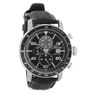 Citizen Eco Drive Mens Brycen Chronograph Stainless Steel Watch CA0649-14E