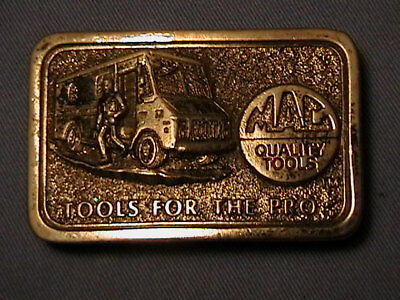 Vintage Limited Edition Mac Tool Belt Buckle, Tools For The Pro, Made In Usa.