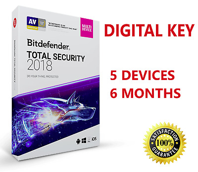 Bitdefender Total Security 2019 - 5 Devices | 6 Months - INSTANT DELIVERY