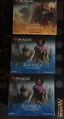 MTG 1x Guilds Of Ravnica 2x Ravnica Allegiance Bundle Fat Pack 10 Booster