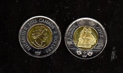 Canada 2012 Hms Shannon Design, Bi-Centennial Of The War Of 1812 Twoonie