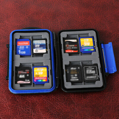 Memory Card Storage Box Case Holder with 8 Slots for SD MMC Micro SD Card U8P5N