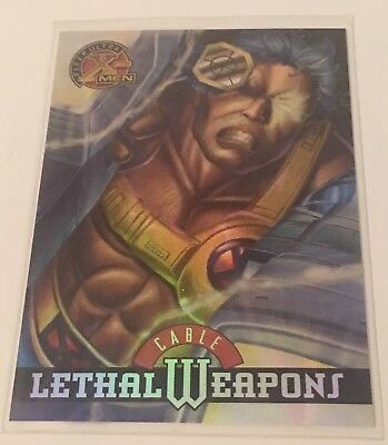 1995 Ultra X-Men Chromium - Lethal Weapons - #9 - Cable