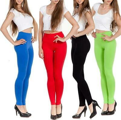 Leggings High Waist in Various Colours Cotton, S M L XL XXL 3XL