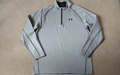 Under Armour Half Zip Cold Gear Gray Pullover Mens Large Fitted Activewear Activewear Tops
