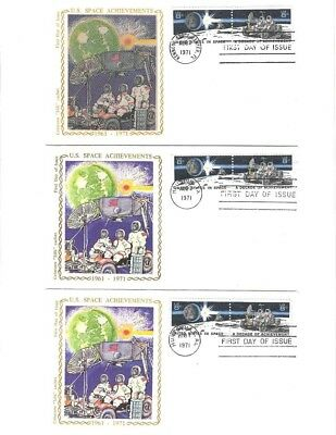 Colorano FDC- Set of 3 RARE Space Covers- 1434a, 1434b, and 1434 c