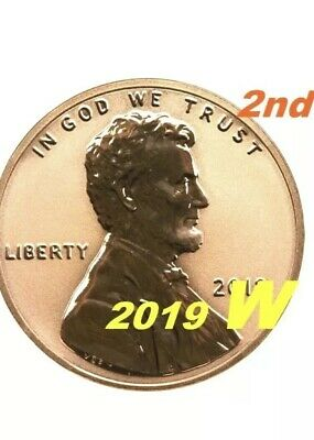 "2019 W PROOF ""Reverse"" Lincoln Cent From 2019 Silver Set. #2 West Point Pre-Sale"