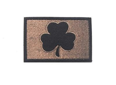 Irish Clover Tactical Morale Black/Brown Hook Patch