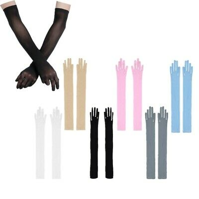 Women Sheer Long Gloves Opera Wedding Bridal Evening Party Prom Mittens Costumes
