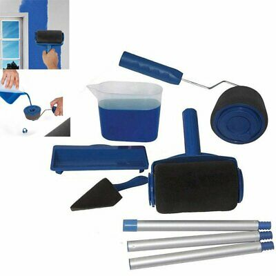 6pcs Paint Roller Pro Set Multifunctional Wall Painting Edger Handle Tool Kits