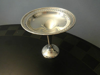 Sterling Silver .925 Signed Crosby Footed Compote Candy Dish Bowl NICE