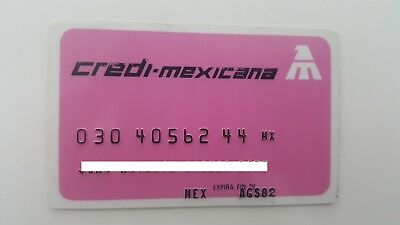 Mexico - Expired - Credit Card - Mexicana Airlines - 1982 - Old & Rare