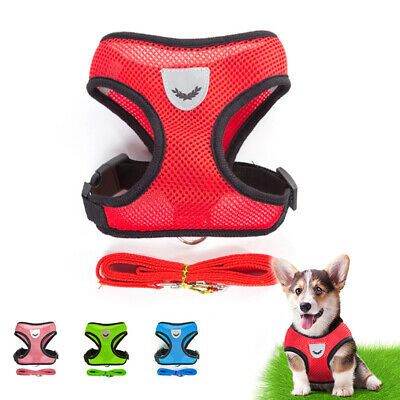 Pet Dog Durable Leads Adjustable Collars Strap Vest Rope Washable Breathable 1pc
