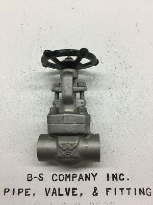 "Forged Stainless Steel Gate Valve WILLIAMS FS80SW62N-316L 1"" 800 Socket"
