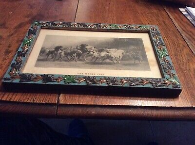 The Horse Fair Engraved By C. G. Lewis 100+ Yrs Old Frame Original Ships Free!!!