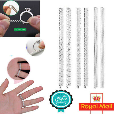 6pcs Gold Ring size reducer ADJUSTER RESIZER jewellery guard SNUGGIES Spiral UK