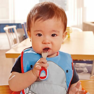 Skip Hop Zoo-tensils Baby / Kid /Child 12 Months + Fork And Spoon