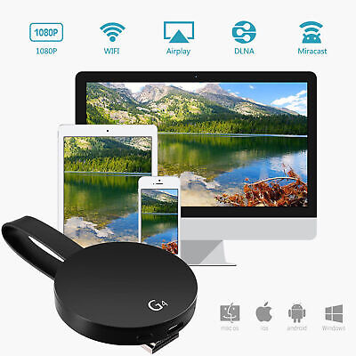 Chromecast 2nd Generation HD 1080P Media Video Digital Streamer Black Google 4K