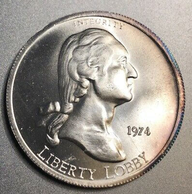 1974 Liberty Lobby One Silver Eagle One Troy Ounce  999 Fine Silver Round
