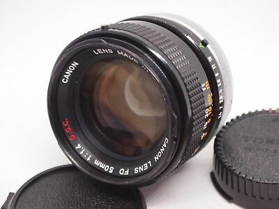 【NEAR MINT】 CANON FD 50mm F1.4 S.S.C Prime MF Lens from JAPAN