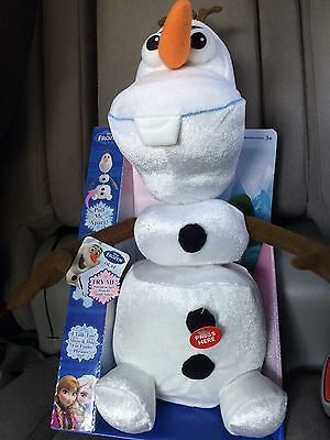 New Withy Box Disney Frozen Talking Olaf Pull Apart Plush-Great Gift For All Age