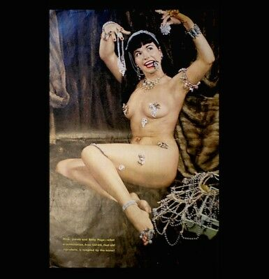 Bettie Page Magazine 1957 Satan Centerfold Only Betty Pinup 11x16 Litho Playboy