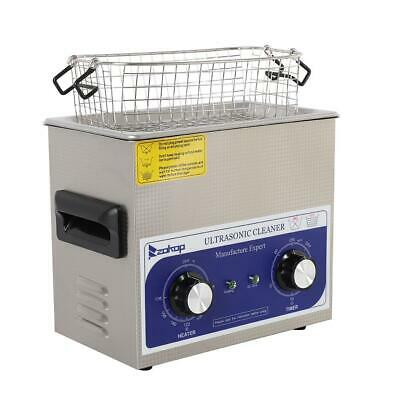 Dental 3L Stainless Ultrasonic Cleaner with Basket 100W Heat Resistance