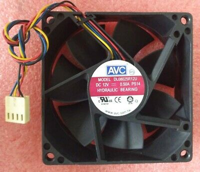 AVC DL08025R12U PS42 fan 80*80*25mm 0.50A 4pin #M447 QL