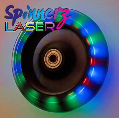 """Wheelchair Castors FLASHING LED Light-Up 100mm or 120mm   4"""" or 5"""" inch   wheels"""