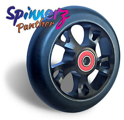 """Wheelchair Castors (pair of)   100mm   110mm   4""""inch x 1""""   Wheels   Panther"""