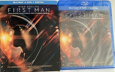 First Man (Blu-ray/DVD/Digital, 2019) NEW Sealed With Slipcover