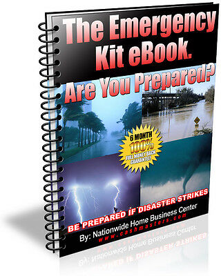 The Emergency Kit Ebook Are You Prepared  Pdf Ebook Free Shipping Resale Rights