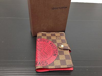 Auth Louis Vuitton Damier Agenda Day Planner Cover Trunks & Bags 6C090400""