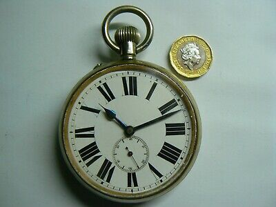 Large Rare SWISS Vintage GOLIATH 8 DAYS GA LA FERRIERE Pocket Watch Boxed WOW