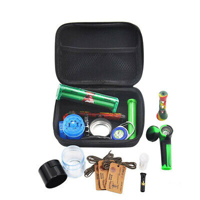 12pcs/set Smoking Box Sets Tobacco Herb Grinder Smoke Pipe Cigarette Accessories