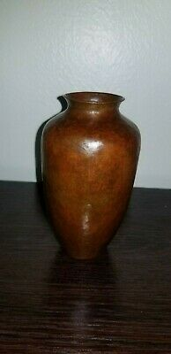 Arts & Crafts HAMMERED COPPER VASE by Ramon Ramirez