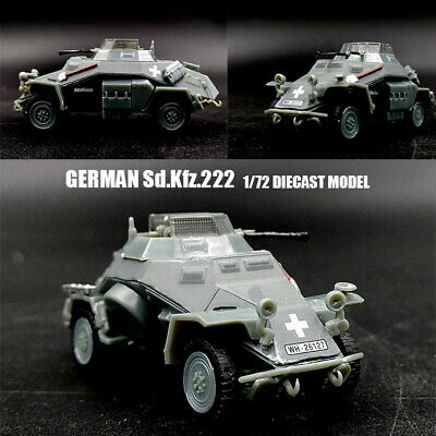 WWII GERMANY Sd.Kfz.222 1/72 diecast communication  reconnaissance vehicle Model