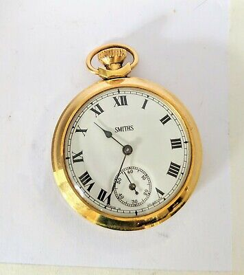 Smiths Gold Plated Wind Up Pocket Watch